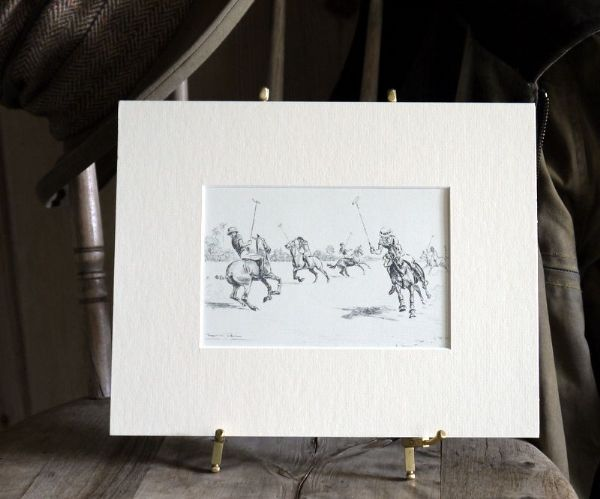 Polo Players - riding forwards - Tulloch -Polo T2